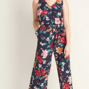 NWT old navy Sleeveless blue floral jumpsuit